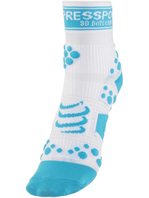 Compressport Racing V2 Run - Chaussettes course à pied - bleu/blanc